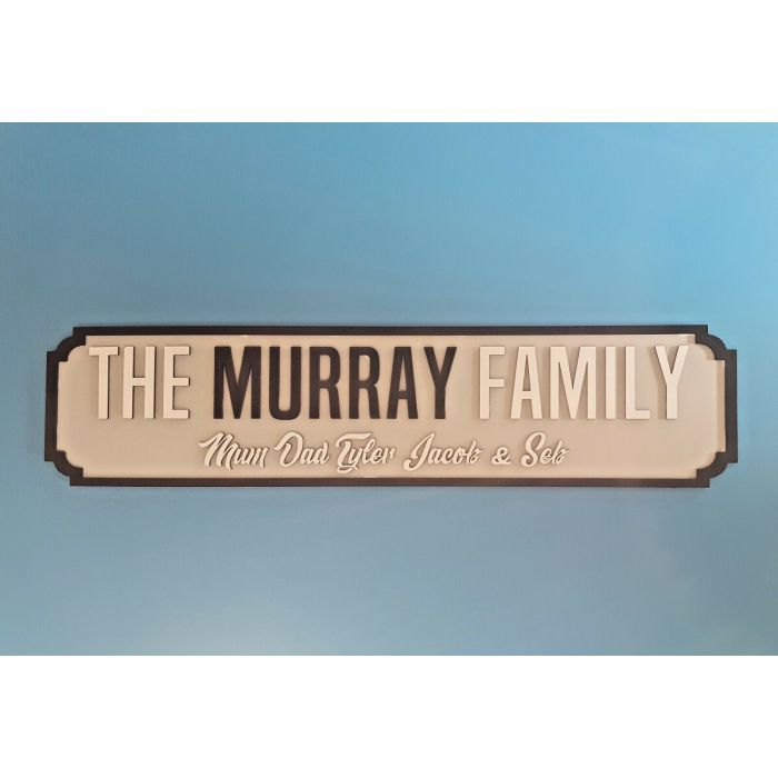 Personalised Family Street Sign - Road Name - Wedding Plaque - Wall or Mantle