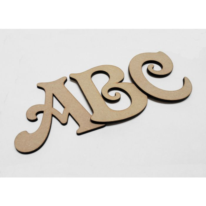 Wooden Letters Decorative Shape Toy Box Name 50-200mm Hobo font #2S4