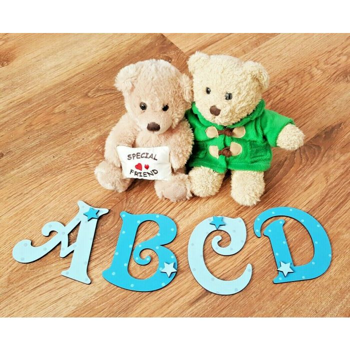 Decorative Personalised Wooden Bedroom Door Letters Name Plaque or Toy Box #203