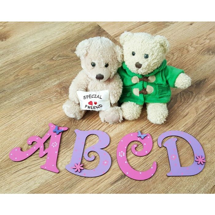 Decorative Personalised Wooden Bedroom Door Letters Name Plaque or Toy Box #204