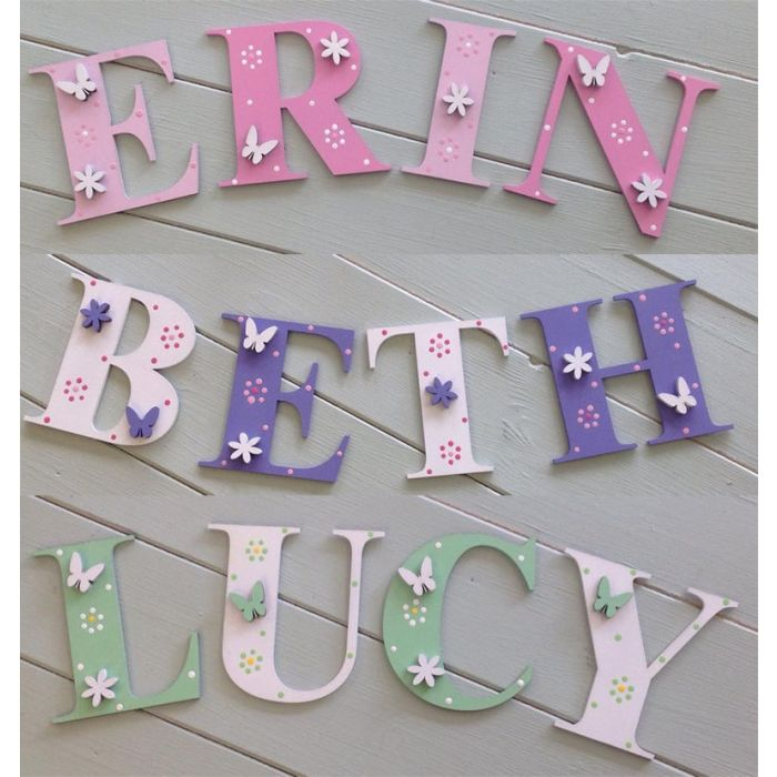 *ANY NAME & ANY COLOUR* Personalised Painted Wooden Bedroom Door Decoration #44#