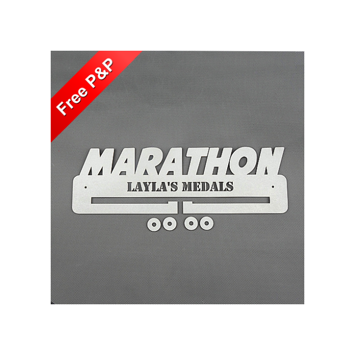 Personalised Medal Holder Marathon - *NOW 6mm PREMIUM MDF - THICKEST ON Ebay*