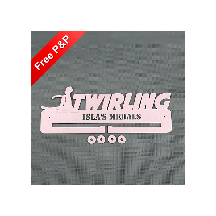 Personalised Medal Holder Twirling - *NOW 6mm PREMIUM MDF - THICKEST ON Ebay*