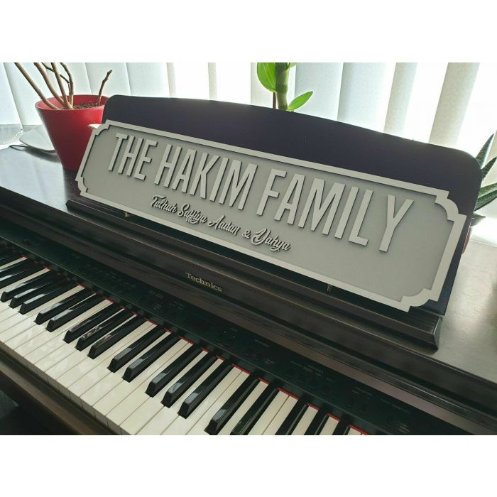 Personalised Family Street Sign - Wedding Plaque - Wall or Mantle #01