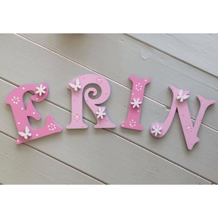 Personalised Wooden Door Letters Bedroom Name Plaque or Toy Box New Times