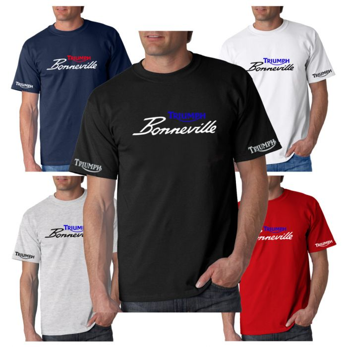 New Triumph Bonneville Inspired T-Shirt Sizes Small to 3XL Choice Of 5 Colours