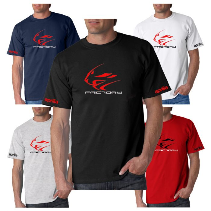 New APRILIA Factory Inspired T-Shirt Sizes Small to 3XL Choice Of 5 Colours