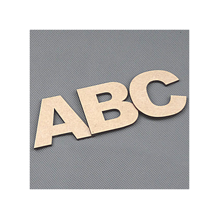 Wooden Letters Decoration Craft Shape Toy Box Name 50-200mm Ariel Letter #E
