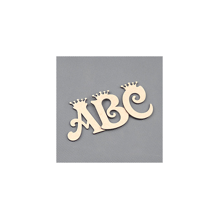 Wooden Letters Decoration Craft Shape Toy Box Name 50-200mm Vic-crown Letter #8