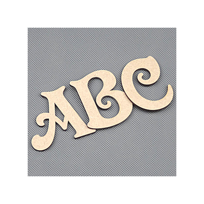 Wooden Letters Decoration Craft Shape Toy Box Name 50-200mm Victorian Letter #14
