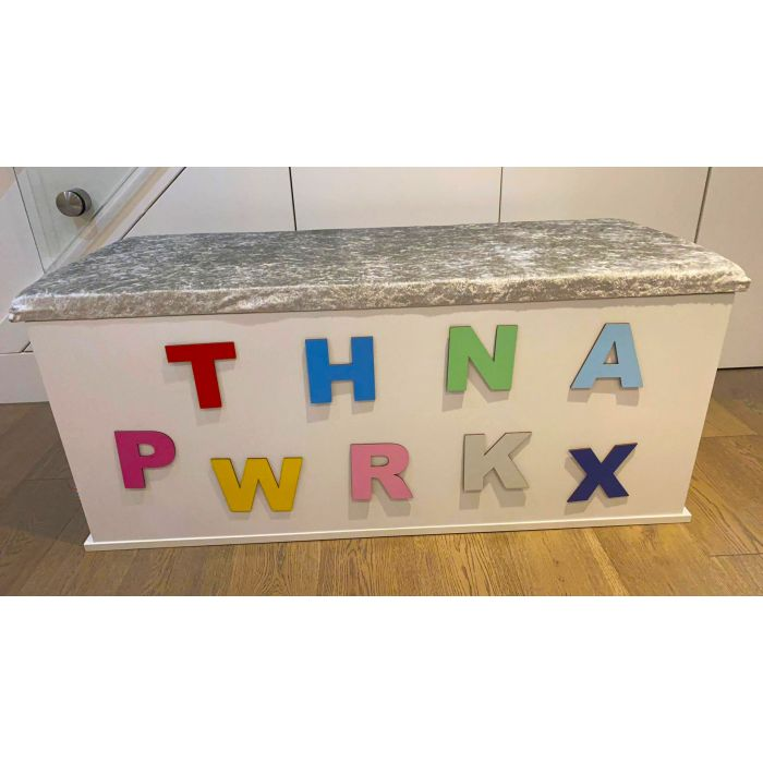 Toy Box Letters - 7 Sizes to choose from and 19 Colours Font A
