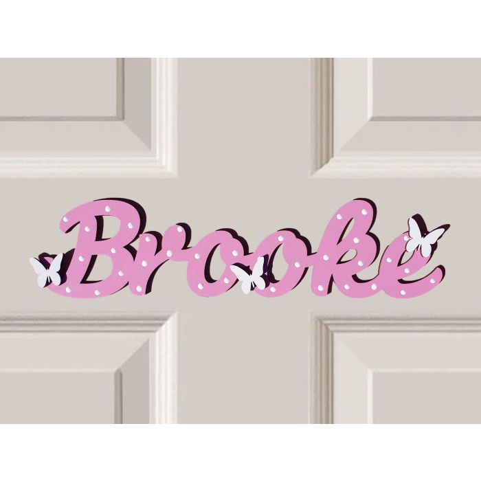 *ANY NAME & ANY COLOUR* Personalised Wooden Name Plaques Bedroom Door Sign #50#