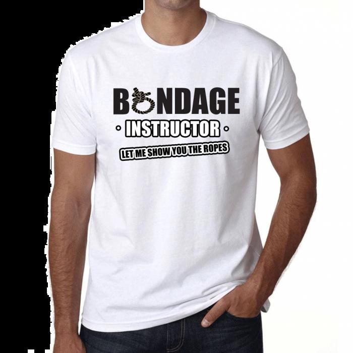 Funny Novelty & Joke Slogan T-shirts - Bondage - Unisex 205g Qaulity T's