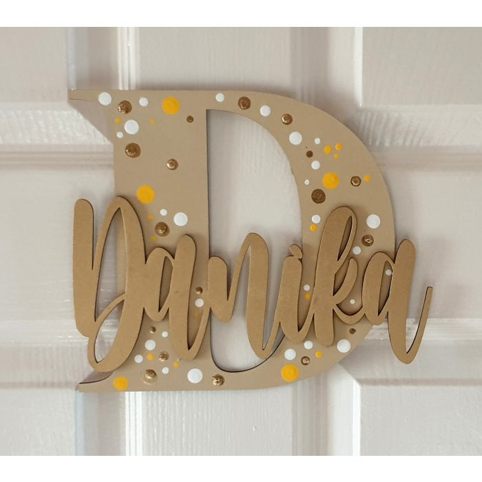 Wooden letters with personalised name for bedroom doors - walls or toy boxes #27