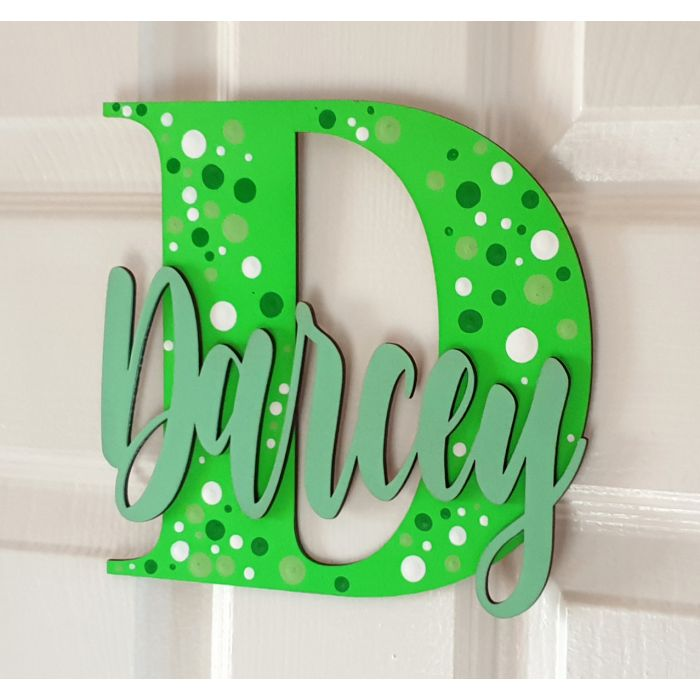 Wooden letters with personalised name for bedroom doors - walls or toy boxes #021