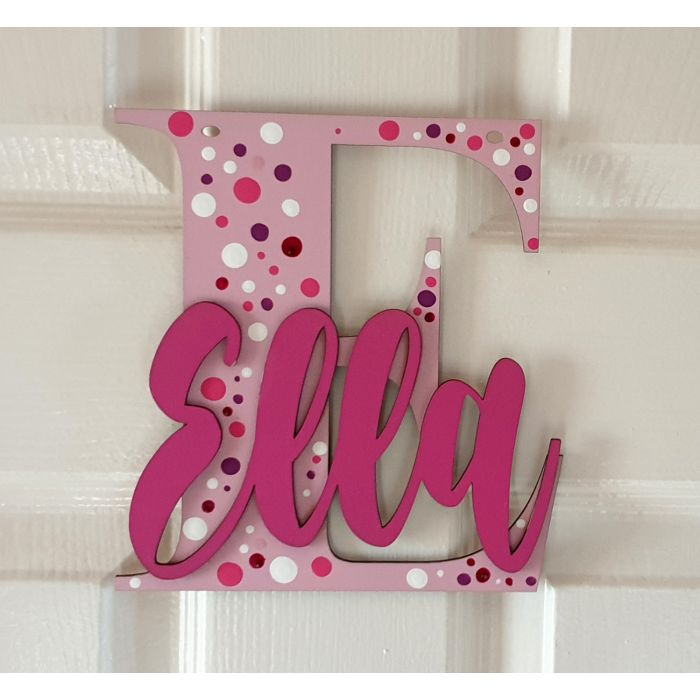 Wooden letters with personalised name for bedroom doors - walls or toy boxes #407