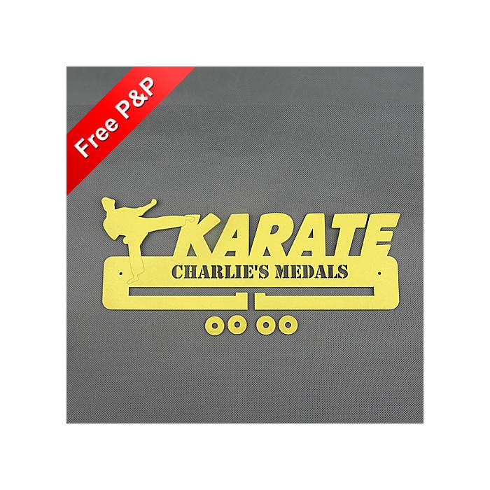 Karate Medal Holder / Hanger / Rack Personalised - 6mm MDF Wooden Craft #8