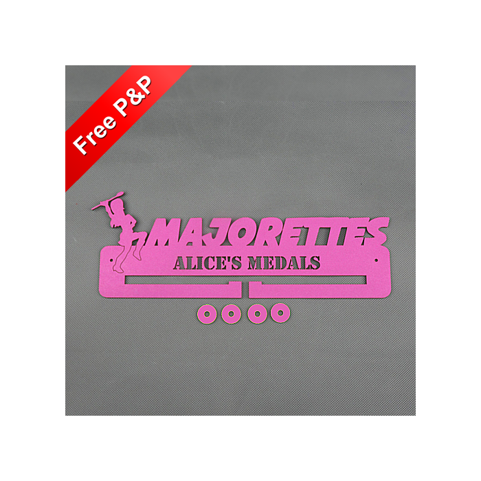 Personalised Medal Holder Majorettes - *NOW 6mm PREMIUM MDF - THICKEST ON Ebay*