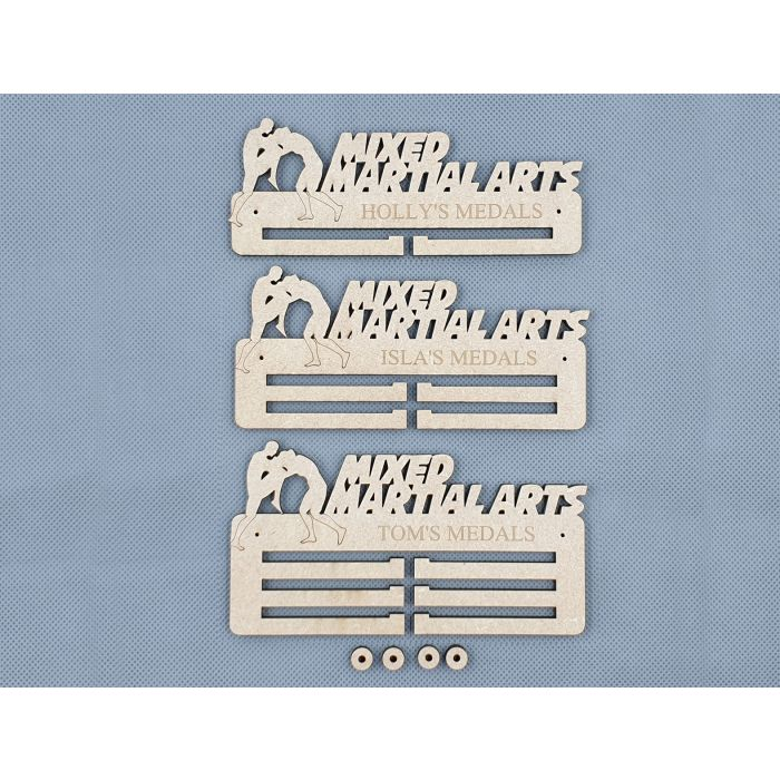 Personalised Medal Holder Rack - MMA Mixed Martial Arts - 6mm PREMIUM MDF