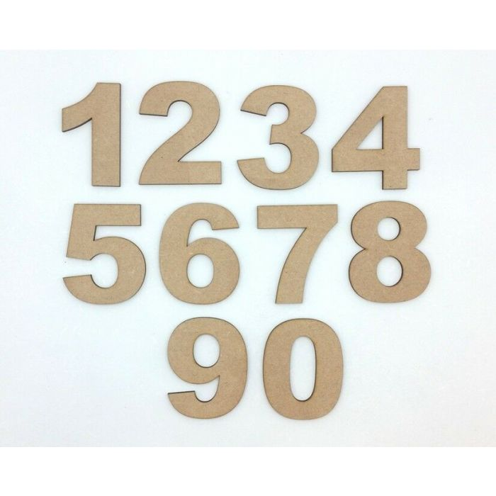 Wooden Numbers 0-9 Decoration Craft Shape Toy Box 50-200mm Arial Black #2