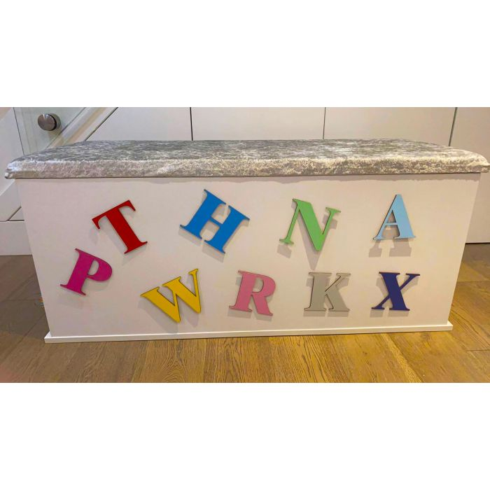 Toy Box Letters - 7 Sizes to choose from and 19 Colours Font R