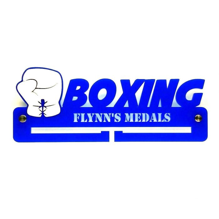 Boxing Medal Holder - Hanger - Rack Personalised Thick 5mm Acrylic FREE POSTAGE!