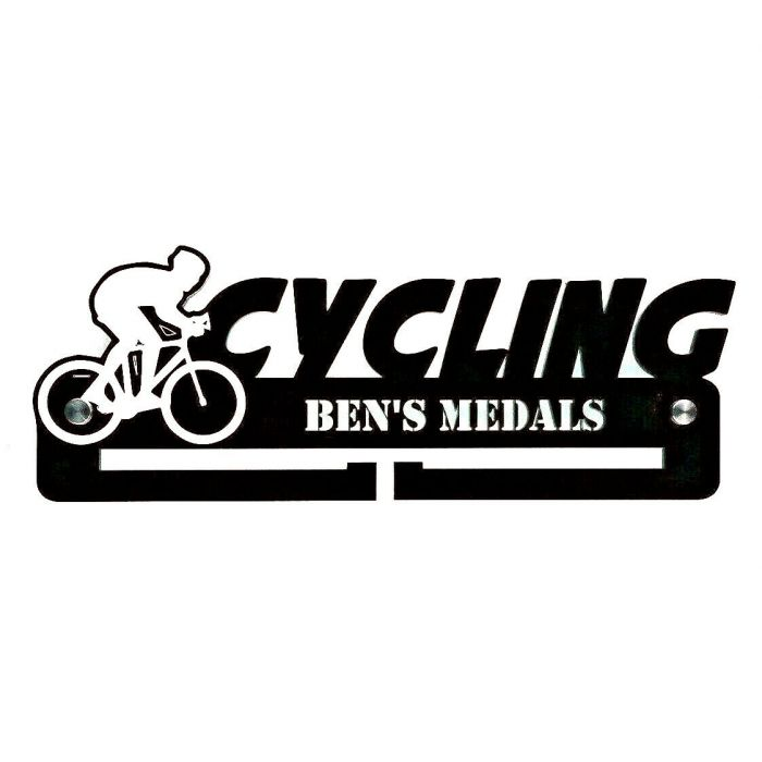 Cycling Medal Holder - Hanger - Rack Personalised Thick 5mm Acrylic FREE POSTAGE