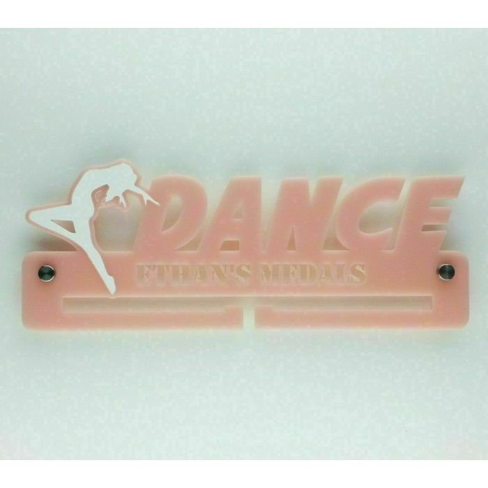 Dance Medal Holder - Hanger - Rack Personalised Thick 5mm Acrylic FREEPOST