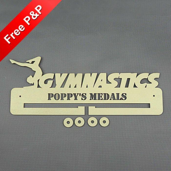 Gymnastics Medal Holder / Hanger / Rack Personalised - 6mm MDF Wooden Craft #5