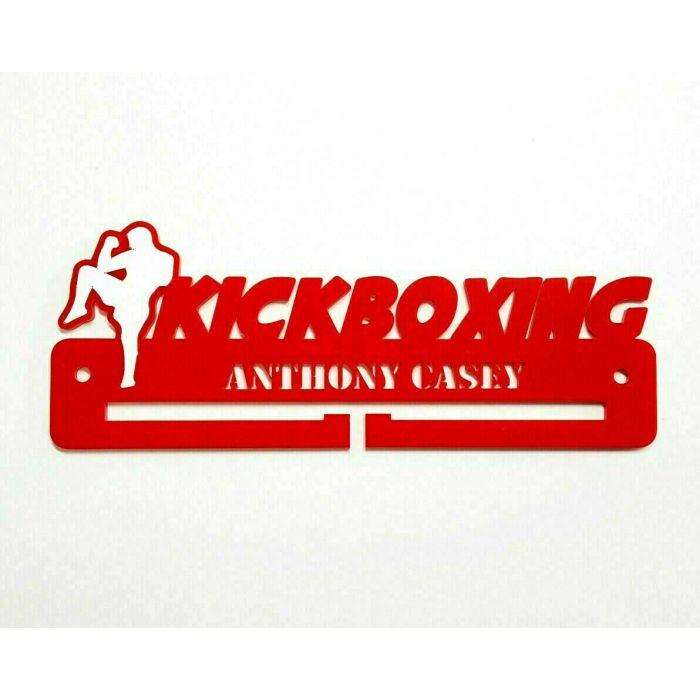 Kickboxing Medal Holder - Hanger - Rack Personalised Thick 5mm Acrylic FREEPOST#