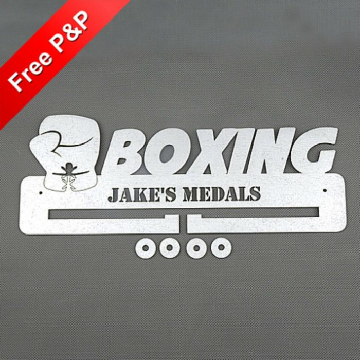 Personalised Medal Holder Boxing - *NOW 6mm PREMIUM MDF - THICKEST ON Ebay*