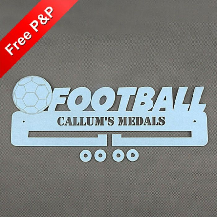 Personalised Medal Holder Football - *NOW 6mm PREMIUM MDF - THICKEST ON Ebay*