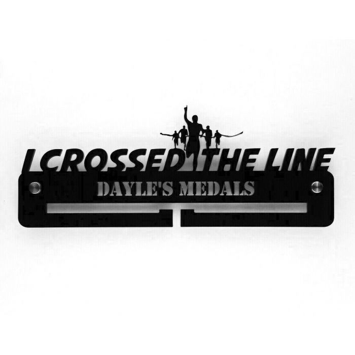 I Crossed The Line Medal Holder - Hanger Personalised Thick 5mm Acrylic