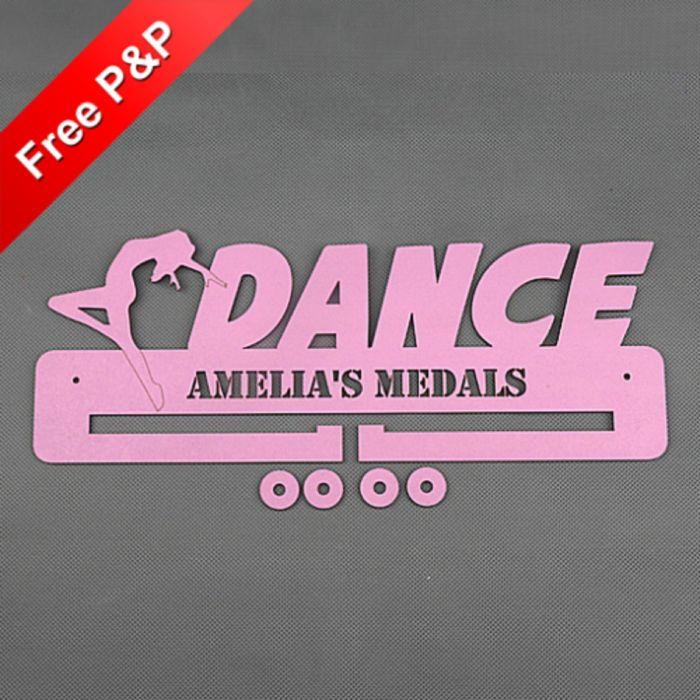 Dance Medal Holder / Hanger / Rack Personalised - 4mm MDF Wooden Craft #3