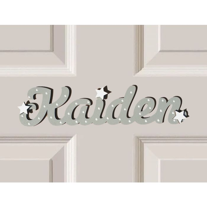 *ANY NAME & ANY COLOUR* Personalised Wooden Name Plaques Bedroom Door Sign #51#