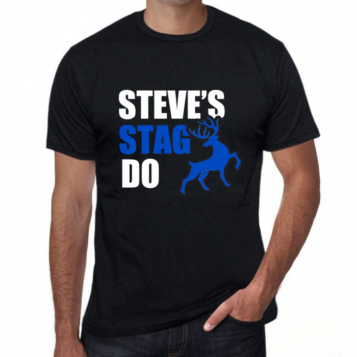 Stag Party T Shirt with funny joke slogan - Mens - Personalised *Add your name*