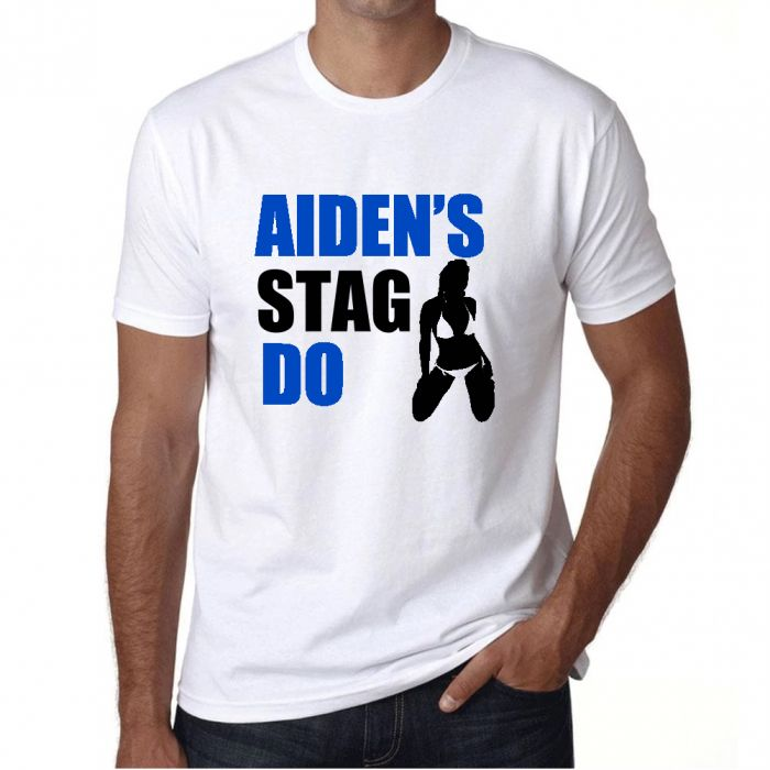 Stag Party Personalised T Shirt with funny joke slogan - Mens - *Add Stag name*