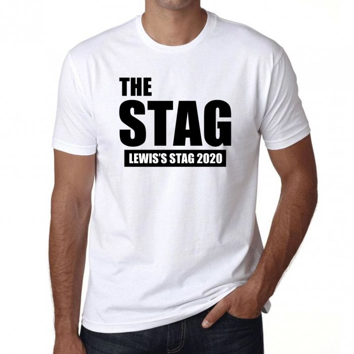 Stag Party T Shirt -The Stag - Personalised *Add your name*