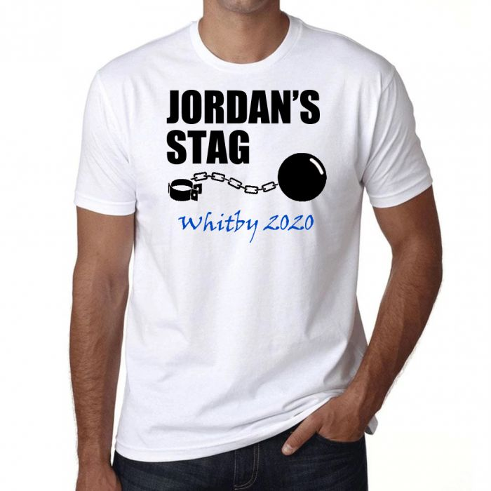 Stag Party Funny T Shirt -Ball and Chain - Personalised *Add your name*