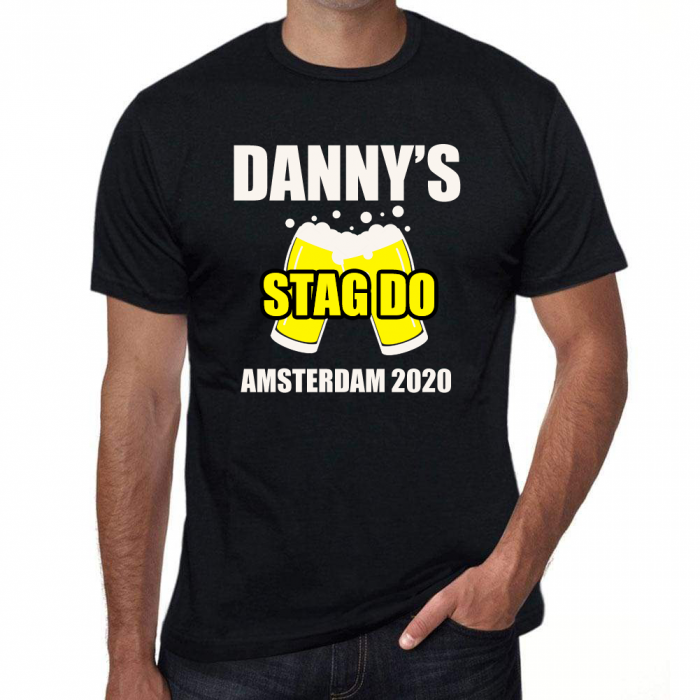 Stag Party Funny T Shirt - Beer - Personalised *Add your name*