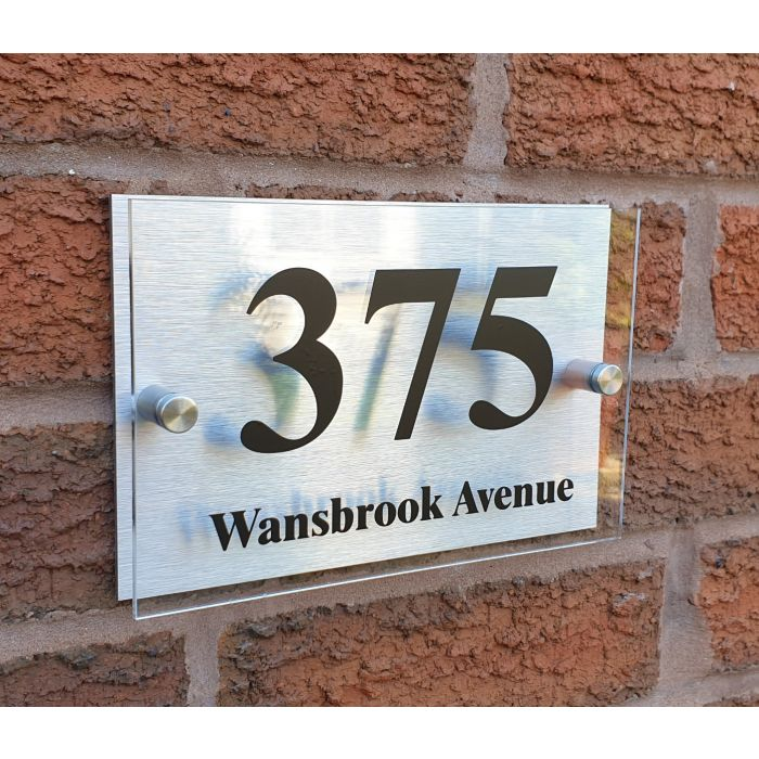 House Number House Plaque House Sign Door Numbers Address plate HS-SQ