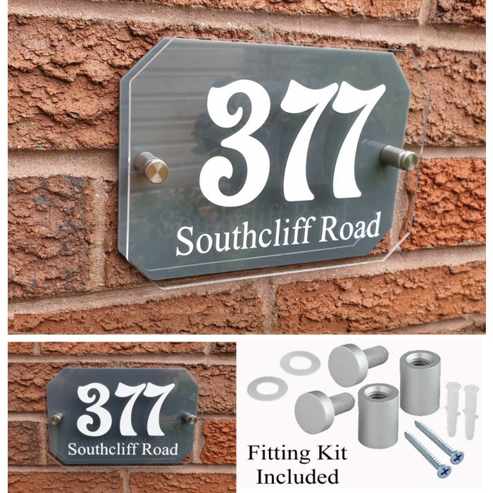 House Number Door Sign Plaque Address Plate Perosonalised
