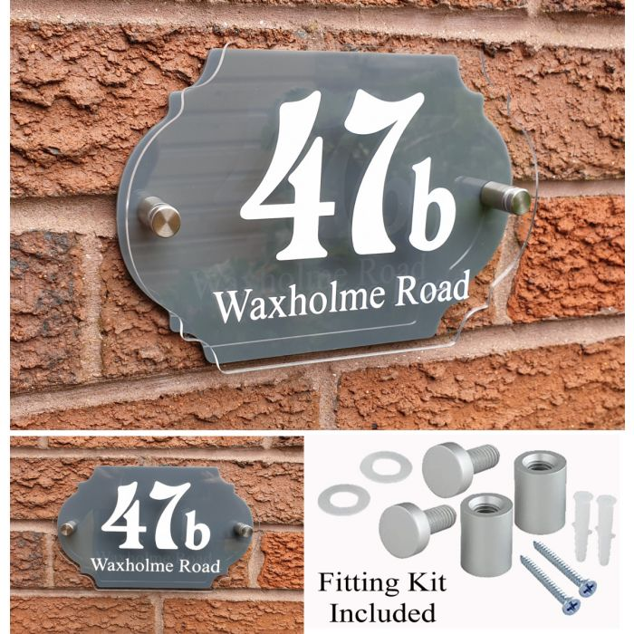House Number House Plaque House Sign Door Numbers Address plate HS4