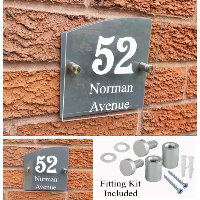 House Number House Plaque House Sign Door Numbers Address plate HS6