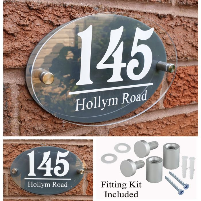 House Number House Plaque House Sign Door Numbers Address plate HS8
