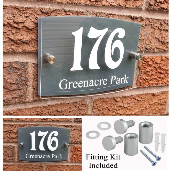 House Number House Plaque House Sign Door Numbers Address plate HS9